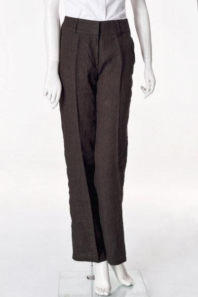 Кафяв широк панталон