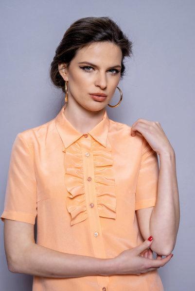 Копринена риза с къдрица