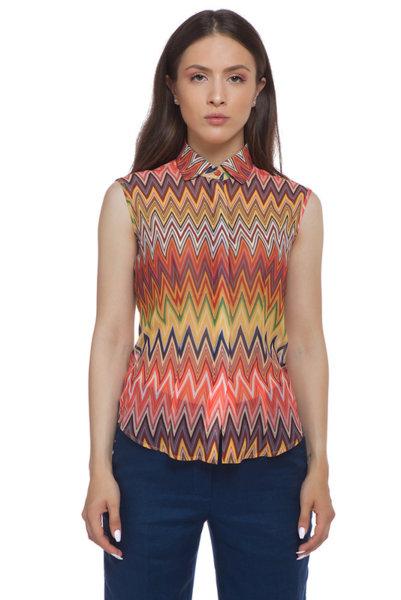 Многоцветна риза без ръкав