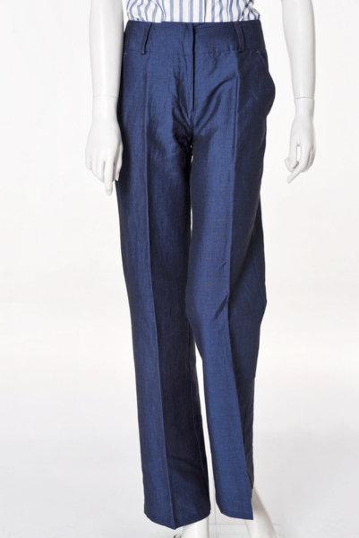 Син широк панталон