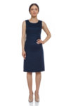 Синя ленена рокля