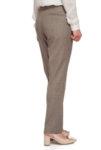 Тъмнобежов кариран панталон