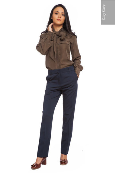 Тъмносин класически 'Easy Care' панталон