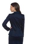Тъмносиньо памучно сако
