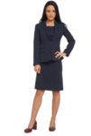 Тъмносиня класическа 'Easy Care' рокля