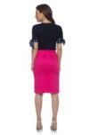 Цикламена памучна пола