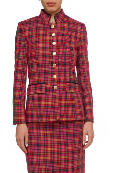 Червено карирано сако