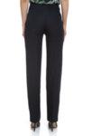 Черен ленен панталон