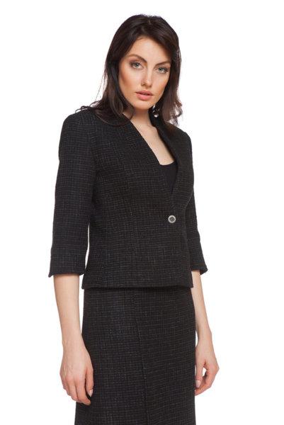 Черно сако без ревер