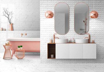Плочките в банята - арена на въображението за перфектен дизайн