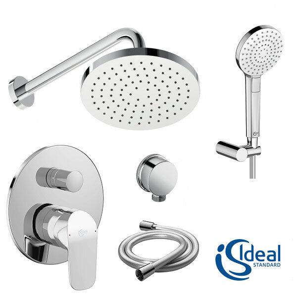 Комплект смесител за вграждане, душ пита, рамо и душ слушалка IDEAL STANDARD Ceraflex BC447AA