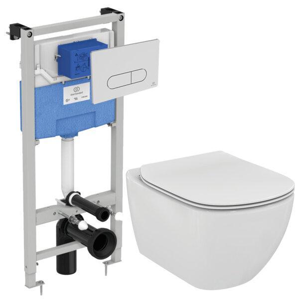 Структура за вграждане и тоалетна IDEAL STANDARD Tesi AquaBlade® R030401