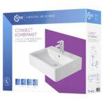 Умивалник за баня 60см със смесител, сифон за мивка, IDEAL STANDARD Connect Cube/Ceraplan 3 E070301