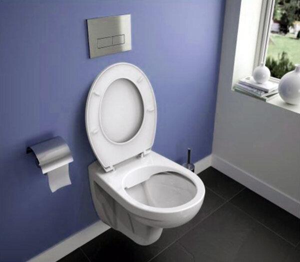 Конзолна тоалетна без ринг EUROVIT и структура за вграждане с бутон IDEAL STANDARD K881001 + W303201 + W3710AA