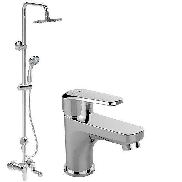 Комплект душ система за вана и душ със смесител за мивка VIDIMA Seva L B2191AA
