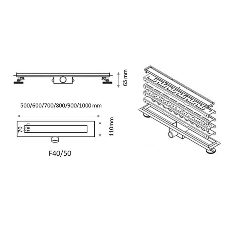 Подов линеен сифон FORMA VITA FVS с решетка Венеция-Copy