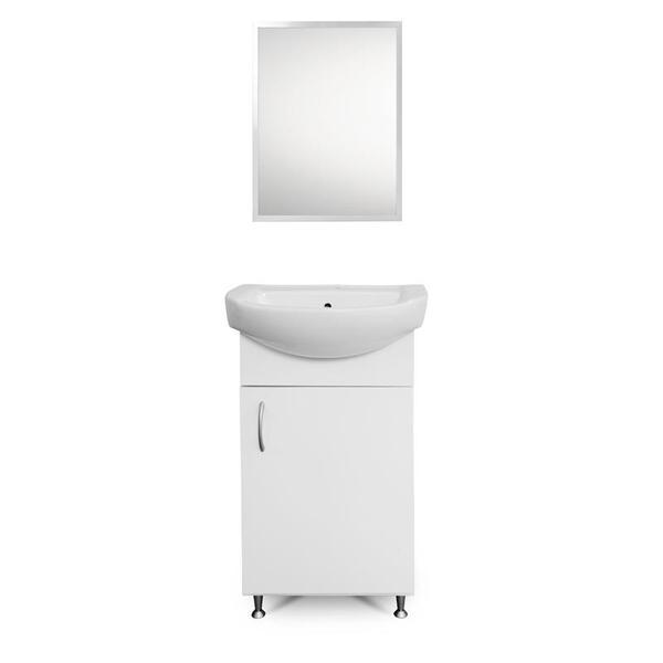 Долен шкаф с мивка в комплект с огледало за баня FORMA VITA Опал 3 46см