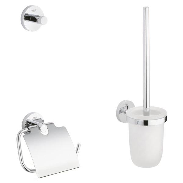 Комплект аксесоари за баня GROHE ESSENTIALS 3в1 40407001