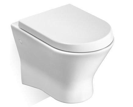 Порцеланова тоалетна за окачване на стена с хоризонтално оттичане ROCA  Nexo  A346640000