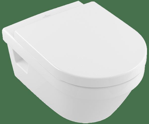 Тоалетна чиния за стена VILLEROY & BOCH Architectura 5684HR комплект с капак 5684HR01