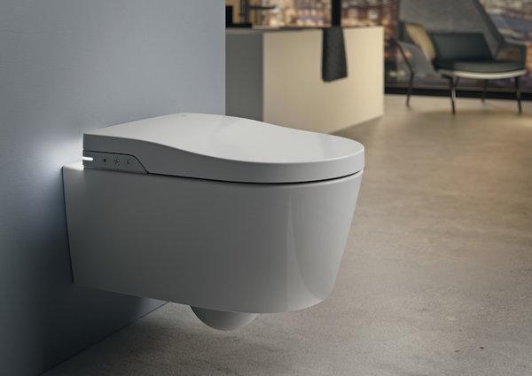 Smart Rimless тоалетна за окачване на стена, с хоризонтално оттичане ROCA Inspira In-Wash®  A803060001
