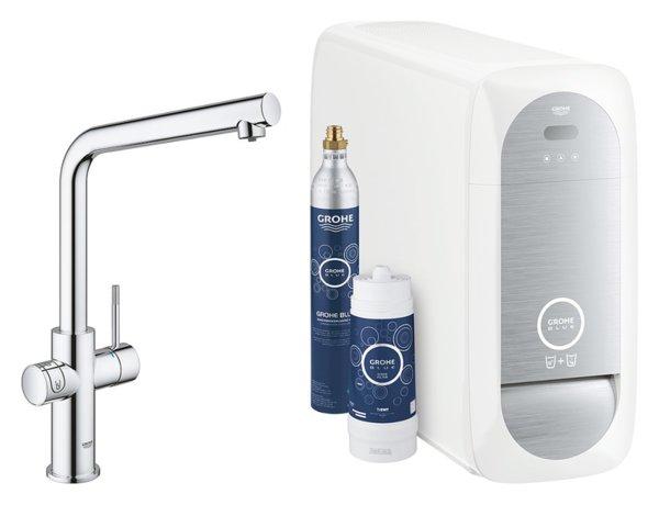 Филтърна система GROHE Blue Home със система за охладена и газирана вода 31454001