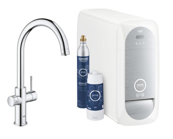 Филтърна система GROHE Blue Home със система за охладена и газирана вода 31455001