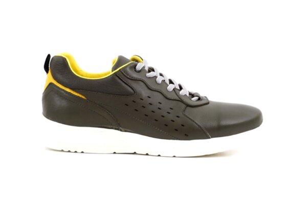 Pantofi sport verzi din piele naturală pentru bărbaţi 57.29702