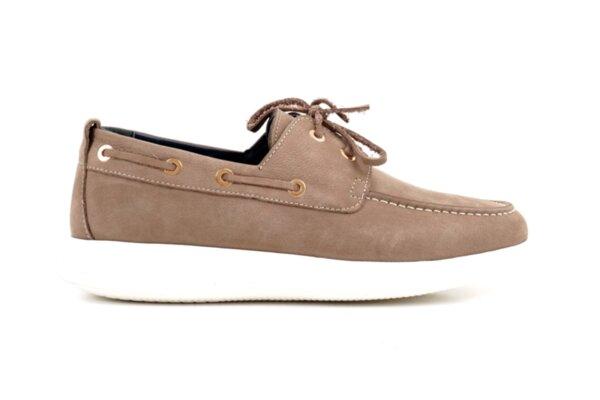 Pantofi casual bej din nabuc natural pentru bărbaţi 57.920