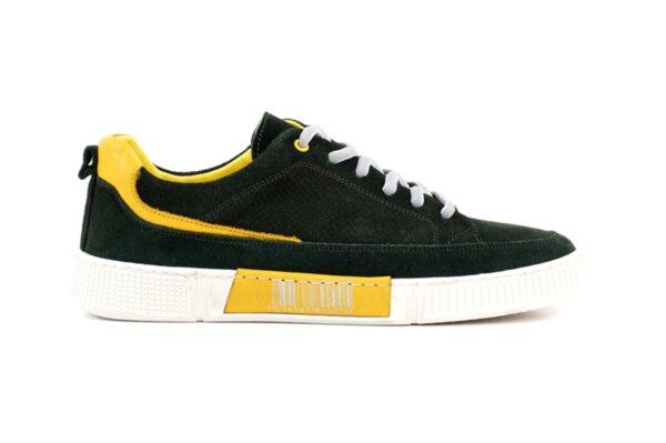 Pantofi sport verzi din velur natural pentru bărbaţi 57.72805
