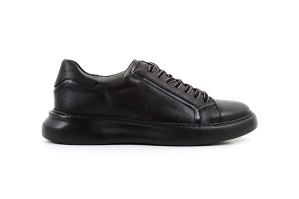 Pantofi sport negri din piele naturală pentru bărbaţi 57.25503