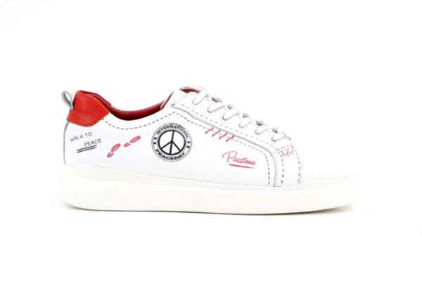 Pantofi sport roşii din piele naturală pentru bărbaţi 57.24802