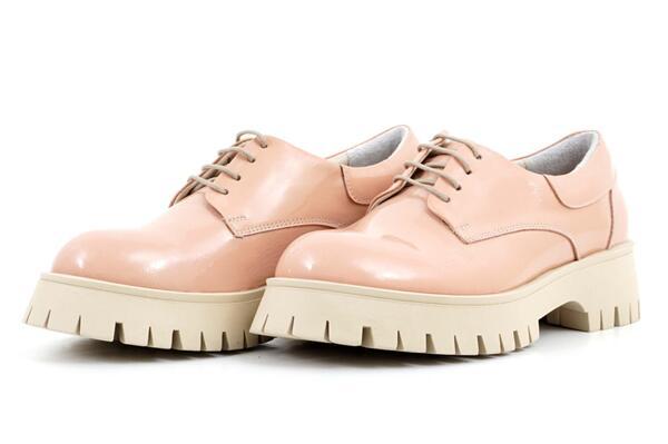 Pantofi damă casual roz din piele naturală lăcuită 56.6106