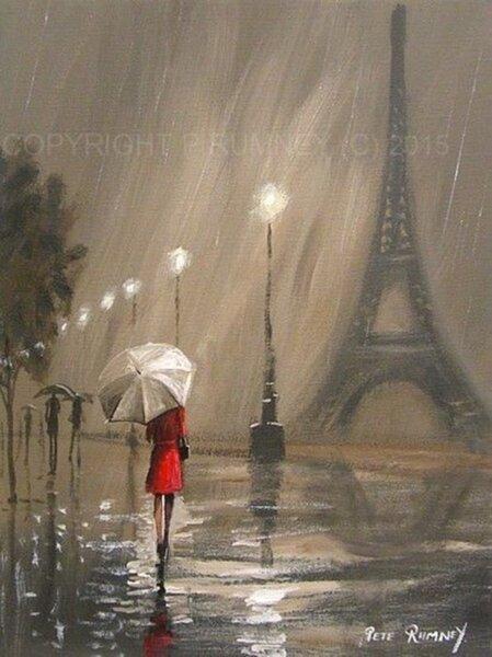 """17.12 ( ЧЕТВЪРТЪК ) 18:45Ч. """" a rainy day in Paris """""""