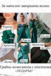 Официална дълга рокля тюл цвят тъмнозелен Lorreti