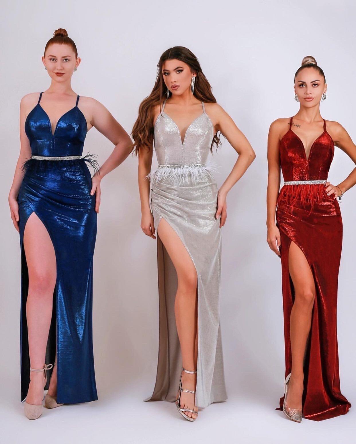 """Официална дълга рокля """"Adriana"""" ламе цвят бордо"""