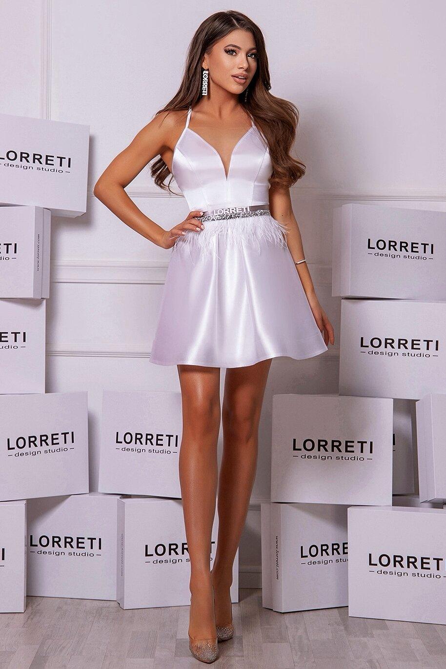 """Коктейлна къса рокля """"Adriana"""" цвят бял"""