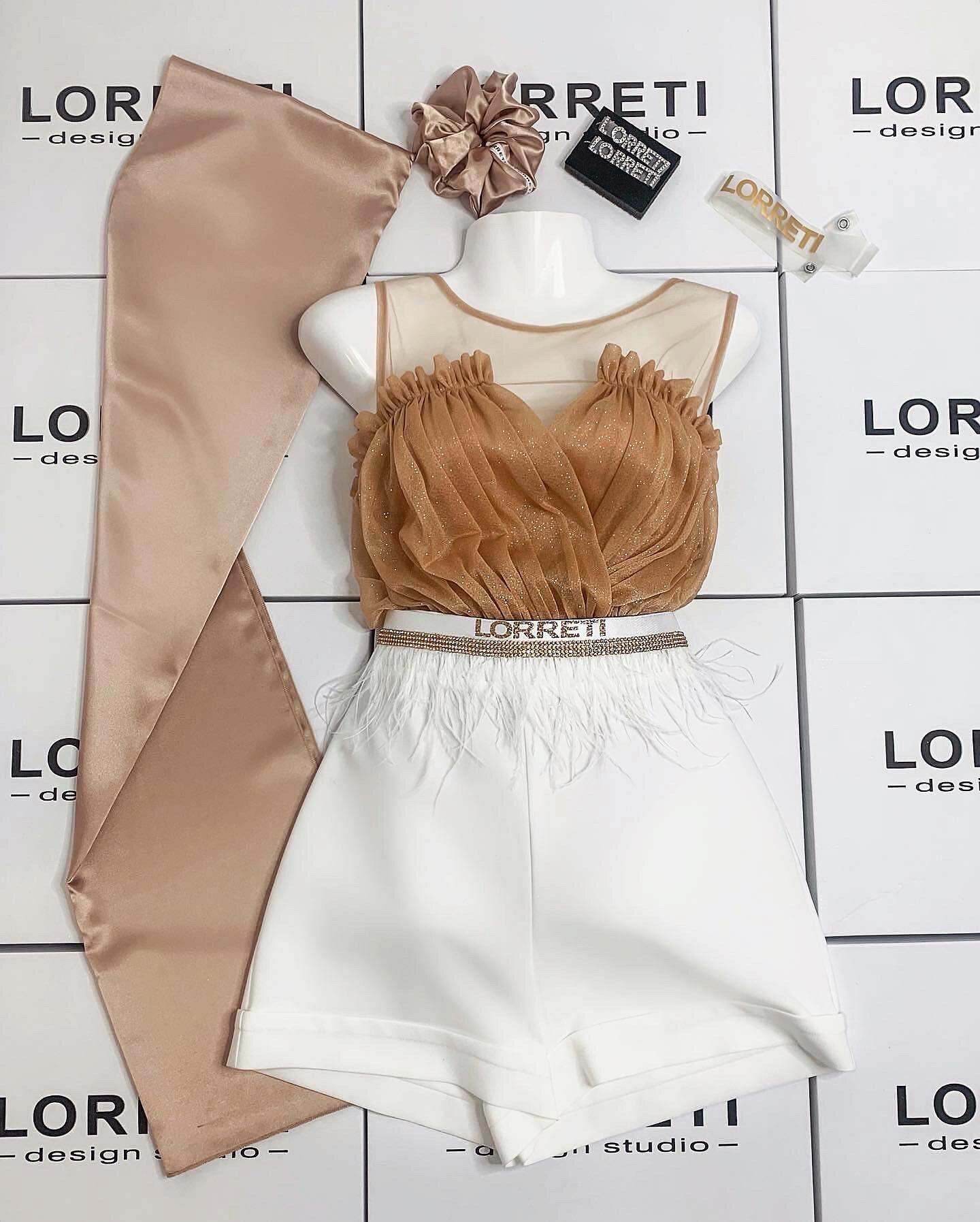 Дамски къс панталон цвят бял lorreti