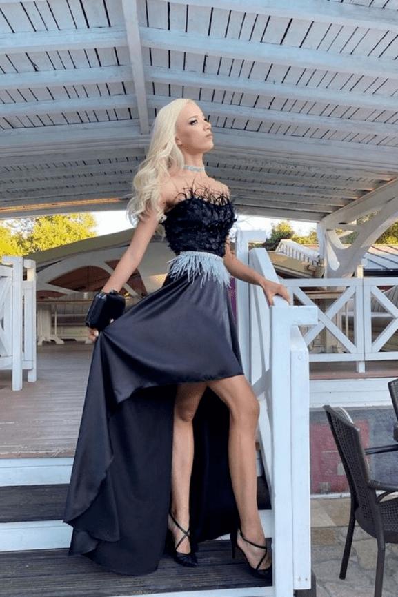 """Официална дълга рокля """"Paloma"""" цвят черен"""