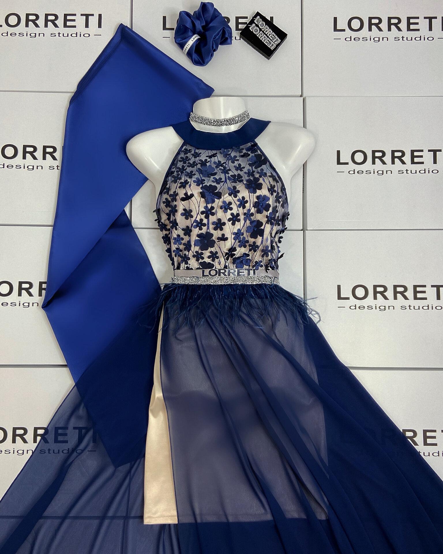 """Официална дълга рокля """"Nikkie"""" цвят тъмносин"""