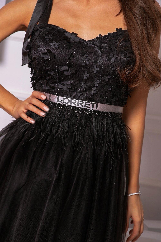 """Коктейлна къса рокля """"Marry'' цвят черен"""