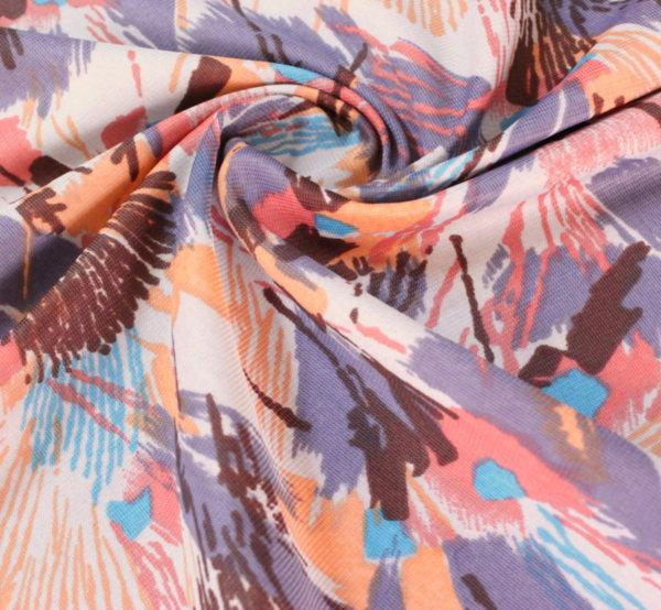 Плат трико щампа - цветни ресни