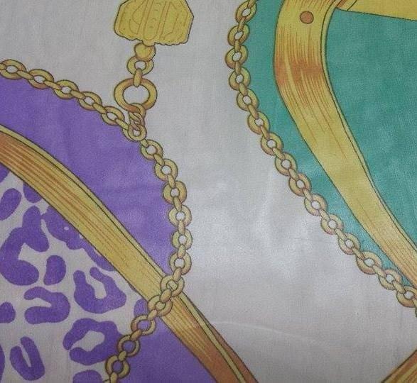 Плат шифон коприна щампа - Медальони
