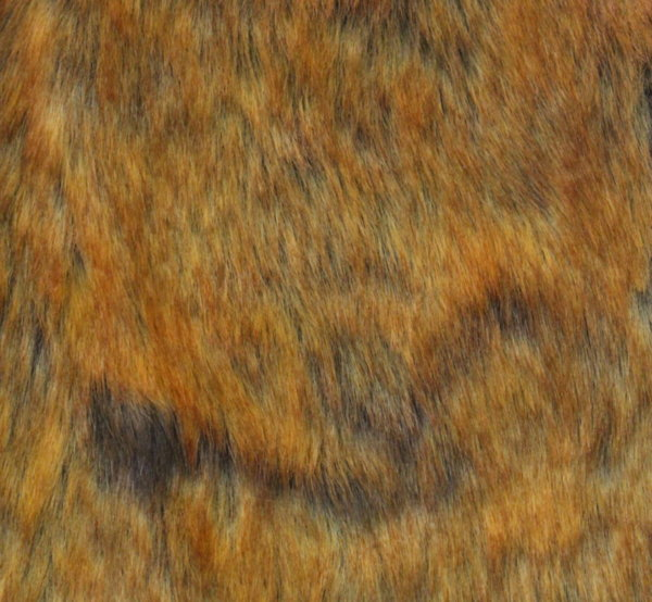 Еко кожа с косъм - Жълта лисица