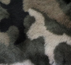Еко кожа дълъг косъм - Камофлаж