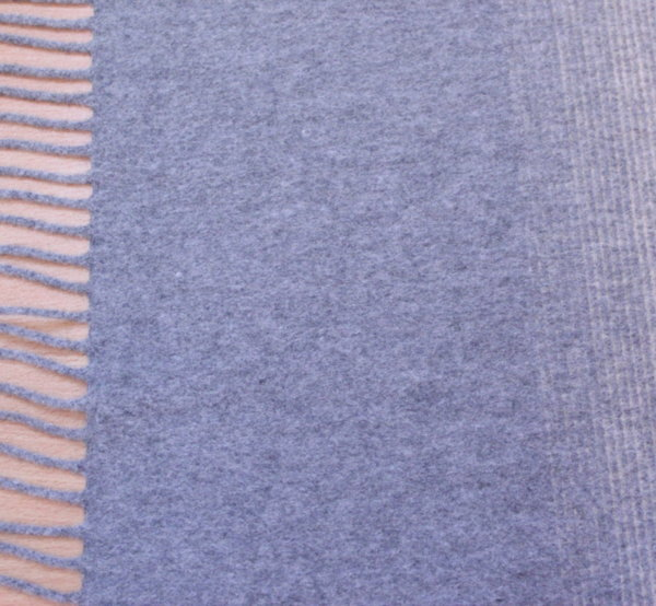 Плат кашмир пончо/пано 1,45м х 1,5м - Бежаво и сиво на ресни