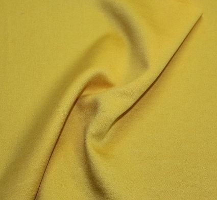 Плат поплин фин дюс - жълт