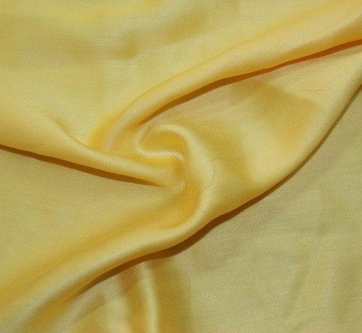 Плат поплин дюс - жълт сатениран