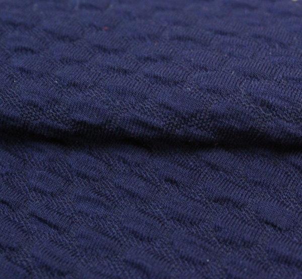 Трико жакард - релефно тъмно синьо