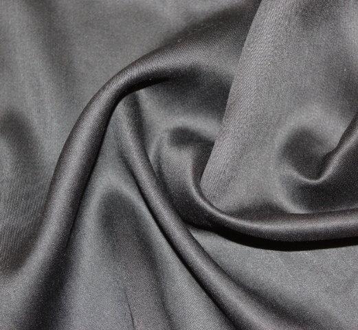 Плат поплин дюс - черен еластичен сатениран